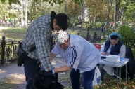День города Серпухов. Вакцинация против бешенства в парке Олега Степанова.